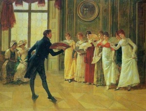 The art of Regency era manners.