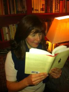 Why is Sarah reading The Wandering Falcon?