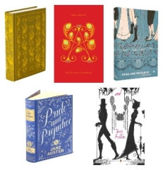 Recent editions of Pride and Prejudice.