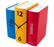 books as clock