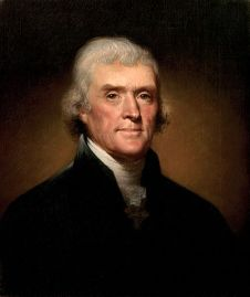 Thomas Jefferson, by Rembrandt Peale, 1800.